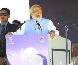 Modi at Aero India-2015 Air Show