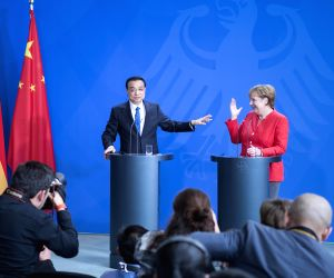 GERMANY-BERLIN-CHINA-LI KEQIANG-ANGELA MERKEL-PRESS CONFERENCE