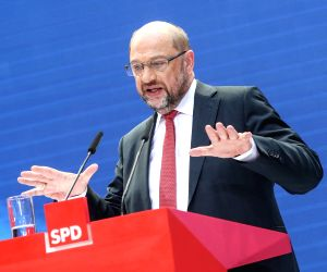 GERMANY-BERLIN-ELECTION-SPD-SCHULZ-PRESS CONFERENCE