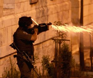 Israeli soldiers shoot during clashes with Palestinian citizens