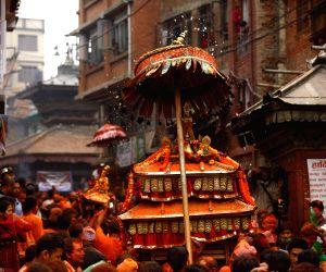 NEPAL-BHAKTAPUR-SINDHOOR JATRA-VERMILLION POWDER FESTIVAL