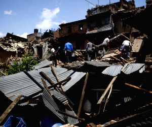 NEPAL BHAKTAPUR EARTHQUAKE AFTERMATH