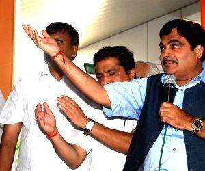 (BJP) President Nitin Gadkari in Mumbai