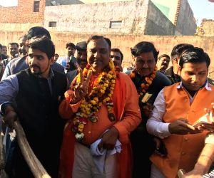 Navin Jain celebrates his victory