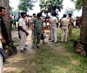: Bhojpur: Police deployed after a Communist Party of India(Marxist-Leninist) leader was shot dead by unidentified assailants in Bihar's Bhojpur district on Aug 27, 2018. Ramakant Ram was ...