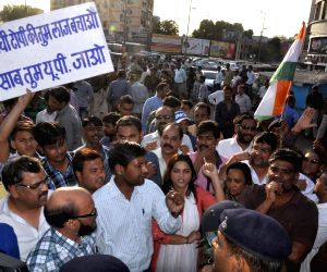 Congress demonstration against MP governor