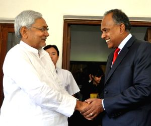 Nitish Kumar meets with K Shanmugam at Patna