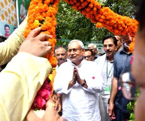 Nitish at Janata Dal-United meeting