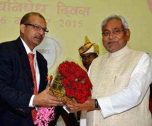 Nitish Kumar during a programme organised to mark liquor Prohibition Day