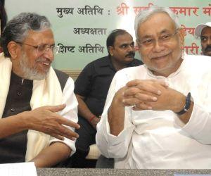 Bihar CM, Dy CM during a programme