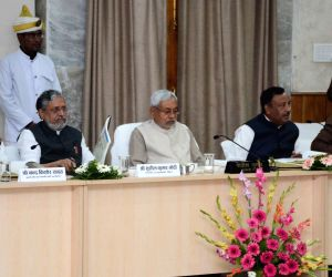 Nitish Kumar during a review meeting