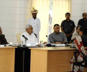 Bihar CM, Dy CM during Lok Samvad programme