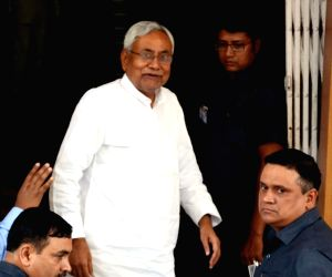 Nitish Kumar arrives at Bihar Legislative Assembly