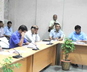 Nitish Kumar during a meeting