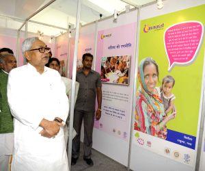 Nitish Kumar during a seminar on 'Gram Barta'