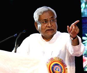 Nitish during Ambedkar Jayanti programme