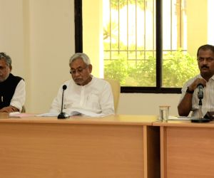 Bihar Chief Minister Nitish Kumar during a review meeting of Finance department in Patna on June 18, 2019.