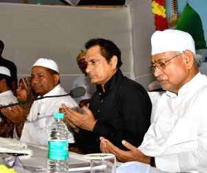 Nitish Kumar at send-off ceremony of Haj pilgrims