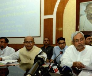Nitish Kumar during a video conference