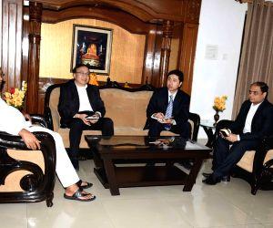 Bihar CM meets BRICS Development Bank VP