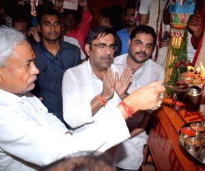 Nitish Kumar visits Bari Patan Devi temple