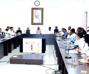 (130220) Patna: Nitish Kumar, Sushil Kumar attends a review meeting over the coronavirus