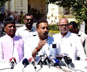 Ashok Chaudhary talks to press