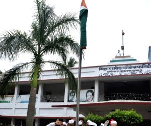 Madan Mohan Jha hoists the tricolor on 74th Independence Day