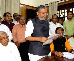 Sushil Kumar Modi files nomination papers for Bihar Legislative Council polls
