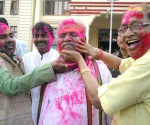 Bihar Legislators celebrates holi