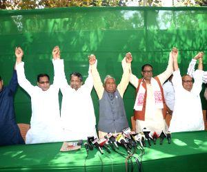 Bihar Rashtriya Janata Dal (RJD) President Ramchandra Purbey, Congress spokesperson Harkhu Jha, Hindustani Awam Morcha-Secular (HAM-S) President Brishen Patel and Rashtriya Lok Samta Party ...