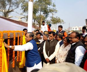 Nand Kishore Yadav, Ram Kripal Yadav lay foundation stone for a road