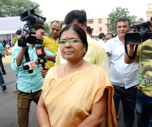 Kumari Manju Verma talks to the media