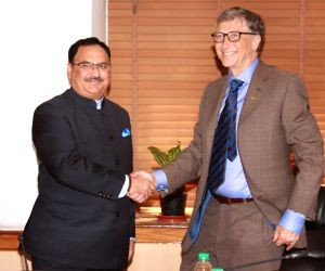 Bill Gates calls on Nadda