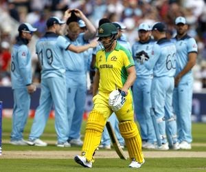 Birmingham: Australian captain Aaron Finch walks back to the pavilion after getting dismissed during the second semi-final match of the 2019 World Cup between Australia and England at the Edgbaston Cricket Stadium in Birmingham, England on July 11, 2