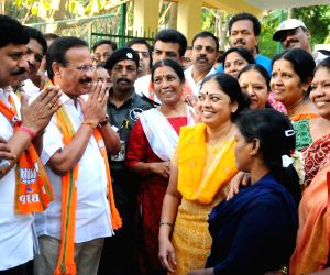 D. V. Sadananda Gowda during an election campaign
