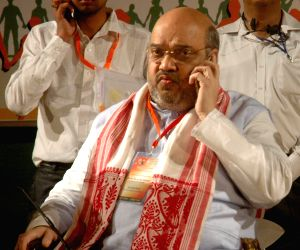 Amit Shah during a BJP programme