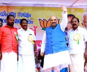 Amit Shah during an election rally