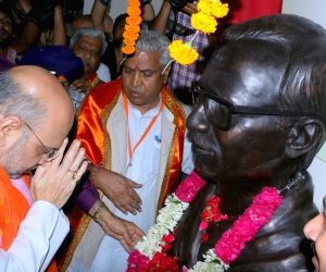 Amit Shah unveils Pandit Deen Dayal Upadhyay statue