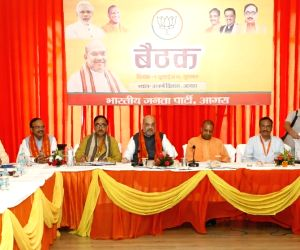 Amit Shah during a party meeting