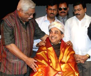 Subramaniam Swamy felicitated during a programme