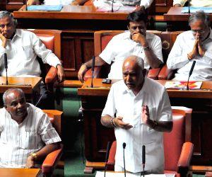 Karnataka floor test - B.S. Yeddyurappa in the state assembly