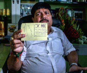 """BJP MP from Barackpore Arjun Singh who had on Sunday announced that he would send 10 lakh postcards to West Bengal Chief Minister Mamata Banerjee with """"Jai Shri Ram"""" written on ..."""