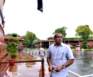 BJP MP Paresh Rawal arrives at Parliament, in New Delhi on July 26, 2018.