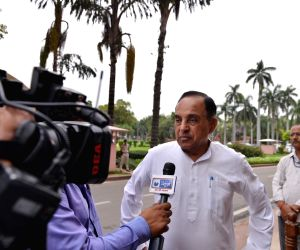 BJP MP Subramanian Swamy at Parliament in New Delhi on Aug 6, 2018.
