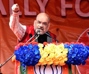 Amit Shah addresses an election rally