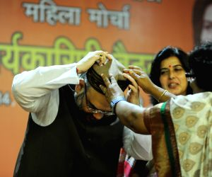 Amit Shah at the BJP Mahila Morcha National Executive meeting