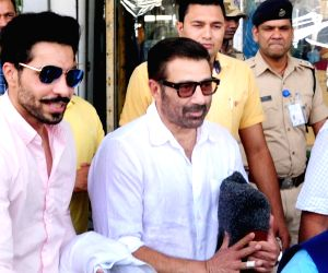 Sunny Deol arrives at Amritsar Airport