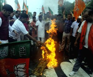 BJP protest against Nitish Kumar