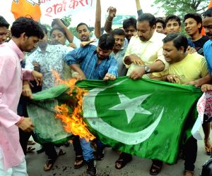 BJP's protest against Pakistan